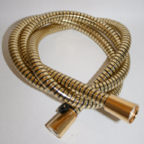 Large Bore Gold Effect Plastic Covered Shower Hose 1.5 Mt - 50600370